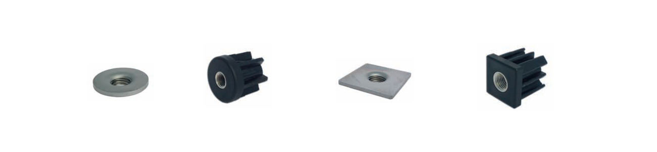 round/square plastic plugs and stainless steel welding plates