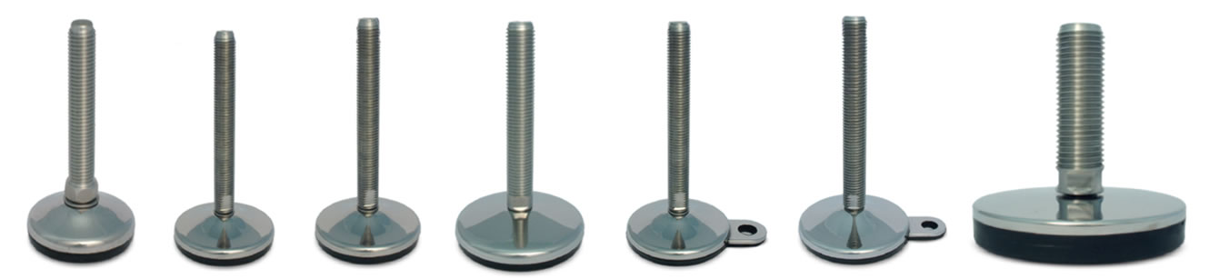 vulcanized stainless steel leveling feet