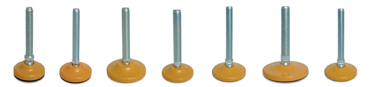 articulated steel leveling feet