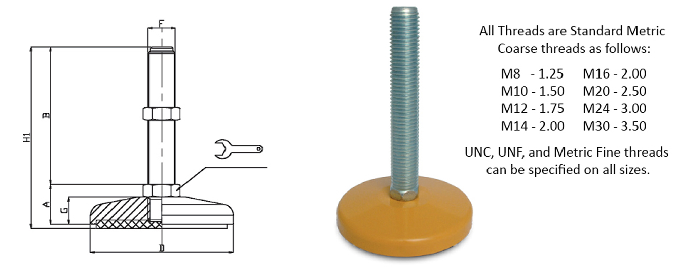 steel heavy duty levelers