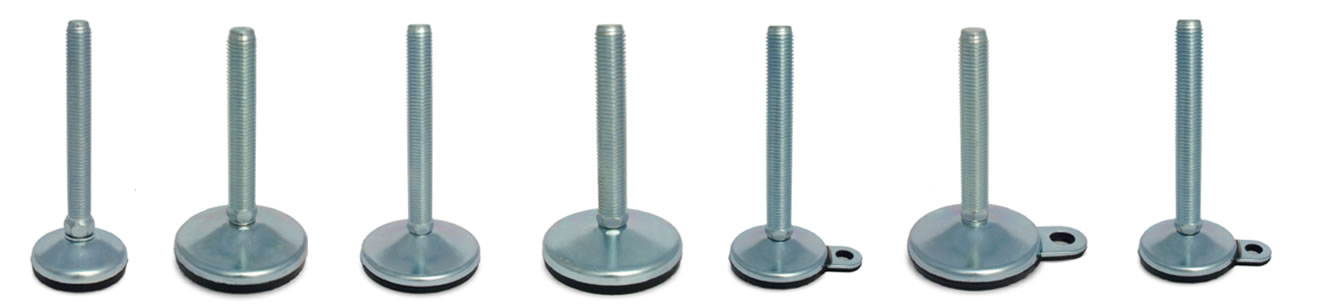 vulcanized steel leveling feet