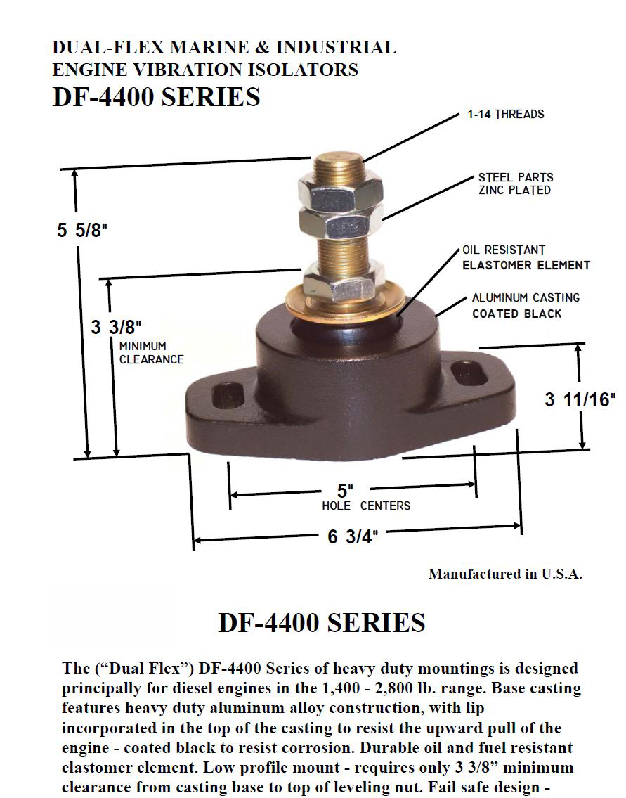 DF 4400 Mounts | Marine Engine | Rubber Vibration Isolators