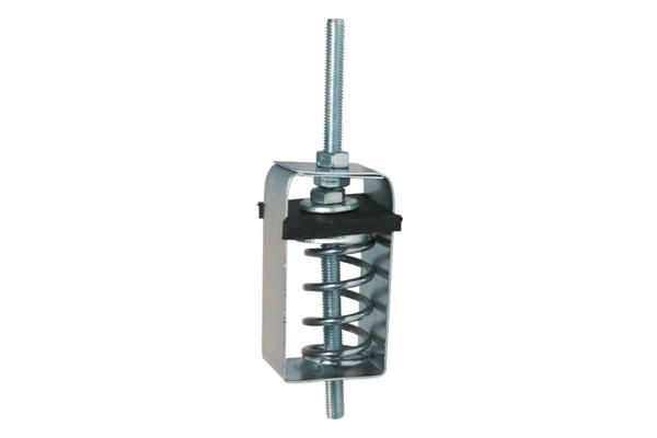 Pipe hanger mounts steel spring rubber hvac